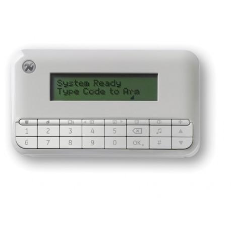 NX-1048-EN - Menügeführtes LCD-Bedienteil - weiß, drahtgebunden