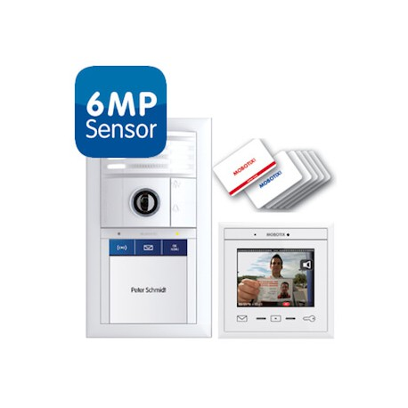 T25 6MP Smart Access Set 1, Ethernet, Keypad, weiß