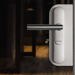 Schlosskasten zur Montage des Smart Handles 3062 auf Glastüren