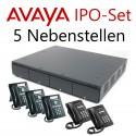Avaya IP Office Set mit 5 Systemtelefonen (erweiterbar)
