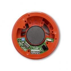Mehrtonsockelsirene 32 Tonarten mit DIN-Ton - flache Bauweise rot