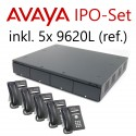 Avaya IP Office Set mit 5x 9620L (ref.) IP-Telefonen (erweiterbar)