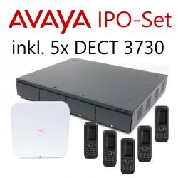 Avaya IP Office Set mit 5x 3730 DECT-Telefonen (erweiterbar)