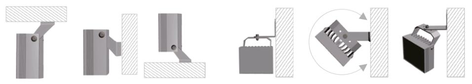 Montagemöglichkeiten Infrarotstrahler
