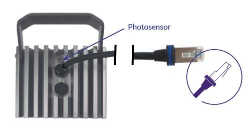 Infrarotstrahler mit Photosensor