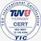 TELEGANT GmbH nach DIN EN ISO 9001:2008 seit 1998 durchgängig vom TÜV Thüringen zertifiziert